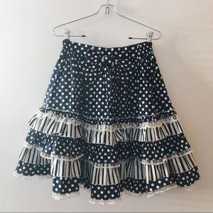 de7f847e1b ... navy polka dot lolita skirt ...